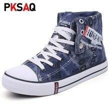 Sneaker Women Casual Shoes High Top Denim Canvas Sh