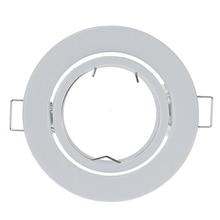 LED Frame Ceiling-Spot-Lights Adjustable GU10 MR16 Fitting Round White for 10pcs/Lot