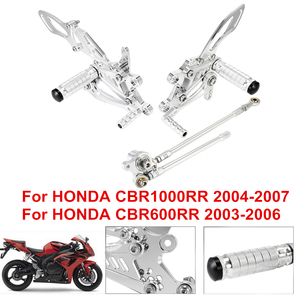 1x Black//Silver Rear Brake Pedal Foot Lever For Honda CBR1000RR 2004-2007 CNC