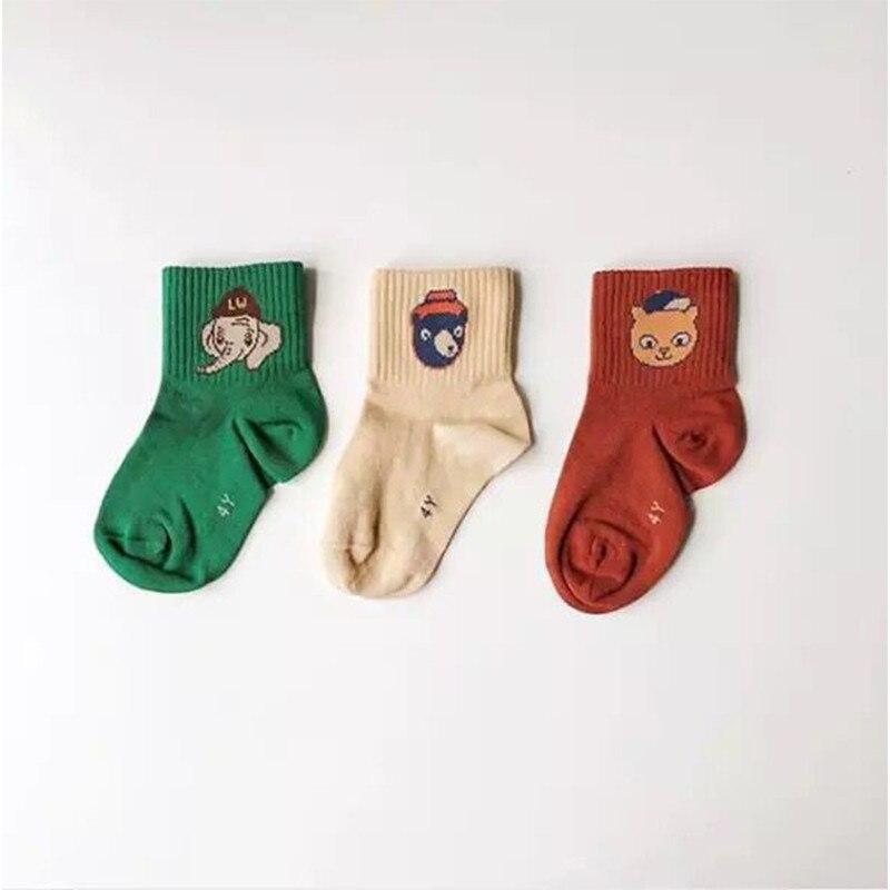 EnkeliBB New Arricals Fashion Brand Animal Socks Baby Cotton Tube Socks Elephant Bear Cat Cartoon Socks High Quality Children