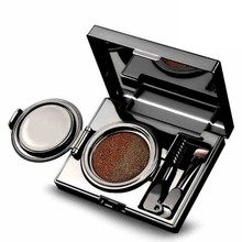 Sobrancelha Air Cushion-cara 2 Tone Paleta de Maquiagem Dos Olhos Brow com Make Up Brush Tool Naturais Da Terra(China)