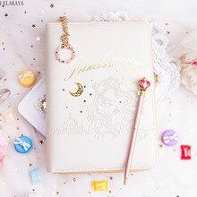 Sailor Moon sakura Action Figure printed Pu Leather Book Case Cover Lovely Moon Pen dairy Book Set girls Gift Notebook handbook