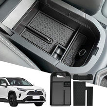 Au04-caixa de armazenamento de apoio de braço central do carro secundário centro de armazenamento console organizador compatível para toyota RAV-4 2019 2020 2021