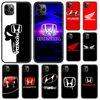 Honda Luxury Car Brand Phone case For iphone 4 4s 5 5S SE 5C 6 6S 7 8 plus X XS XR 11 12 mini Pro Max 2020 black shell silicone image