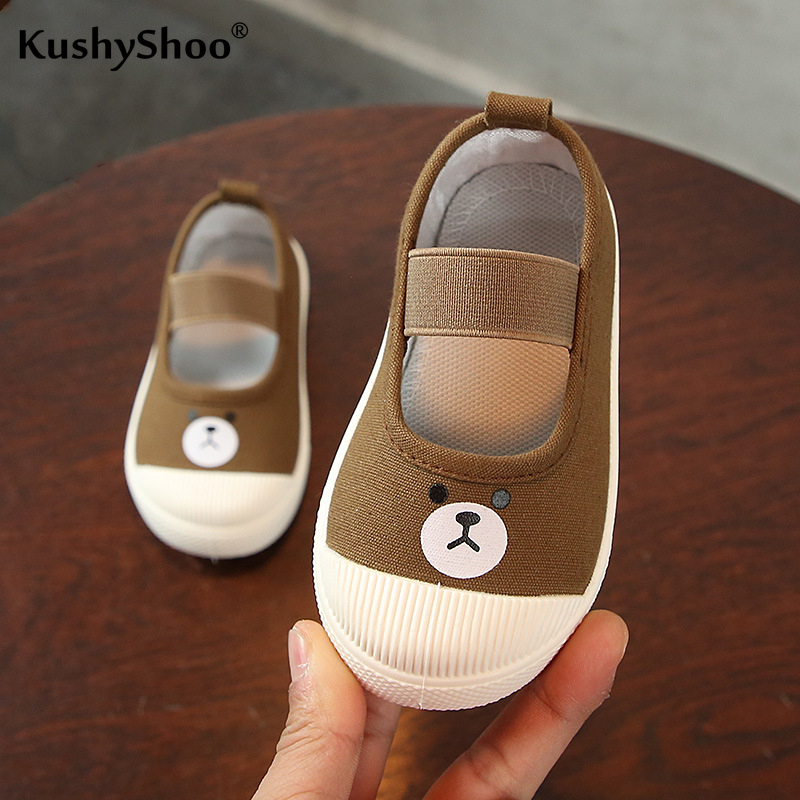 KushyShoo Children Canvas Shoes Kids Casual Students Shoes Baby Kids Shoes For Girl Lovely Animal Prints Boy Shoes