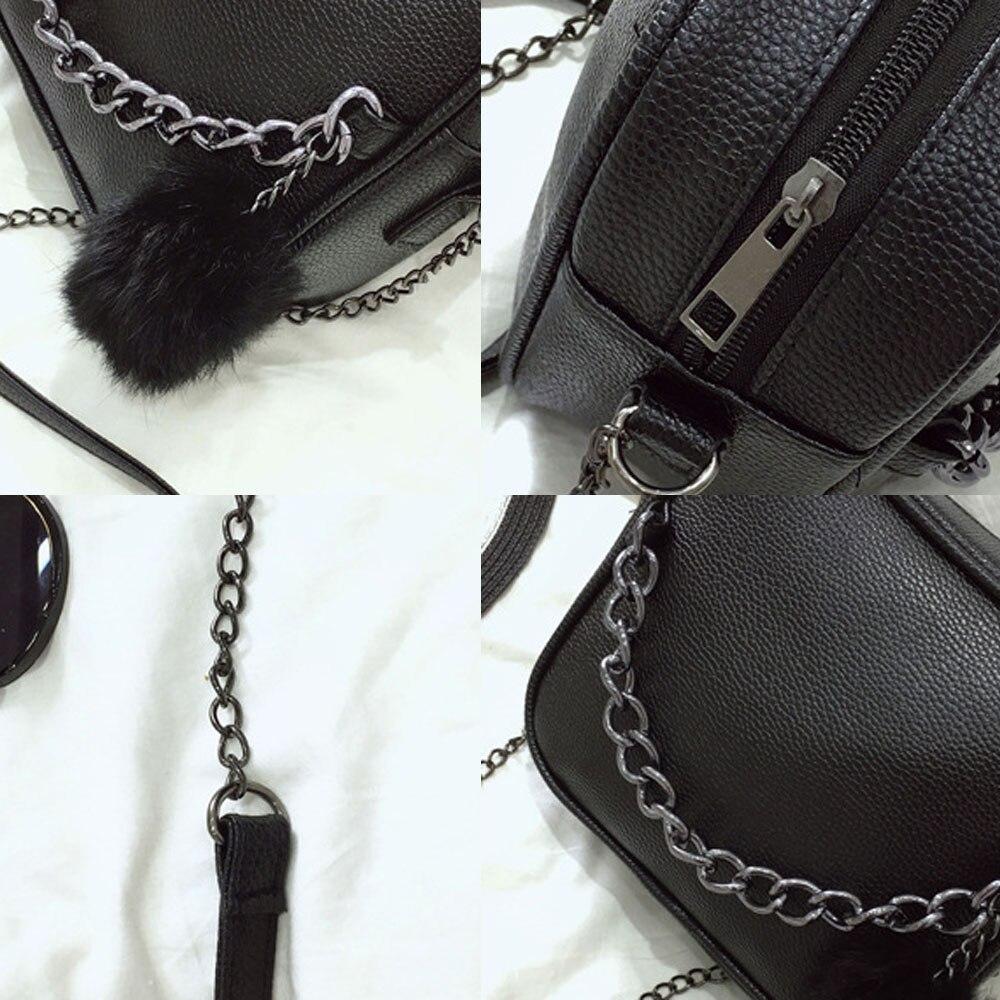 2019 Small Chain Women Bag Women PU Leather Handbag Ptgirl crossbody bags for women sac à main femme sac femme besace handtassen in Shoulder Bags from Luggage Bags