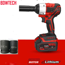 BDWTECH BTW01 Brushless Cordless Electric Wrench Impact Socket 21V 4000mAh Li Battery Hand Drill Installation Power Tools