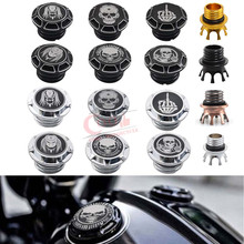 Motorcycle Custom Skull Decorative Oil Cap Fuel Gas Tank Cover Fits For Harley Sportster XL48 883 1200 Touring FLHR Dyna Softail gas tank motorcycle for harley davidson sportster xl 1200 883 x48 dyna fuel gas tank rough crafts decorative oil cap aluminum