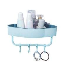 Угловая полка для хранения в ванной комнате настенный органайзер