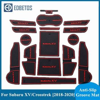 For Subaru XV 2018 2019 2020 Door Groove Mat For Subaru Crosstrek WRX STI Gate Slot Coaster Mat For Subaru XV Gate Slot Pad фото