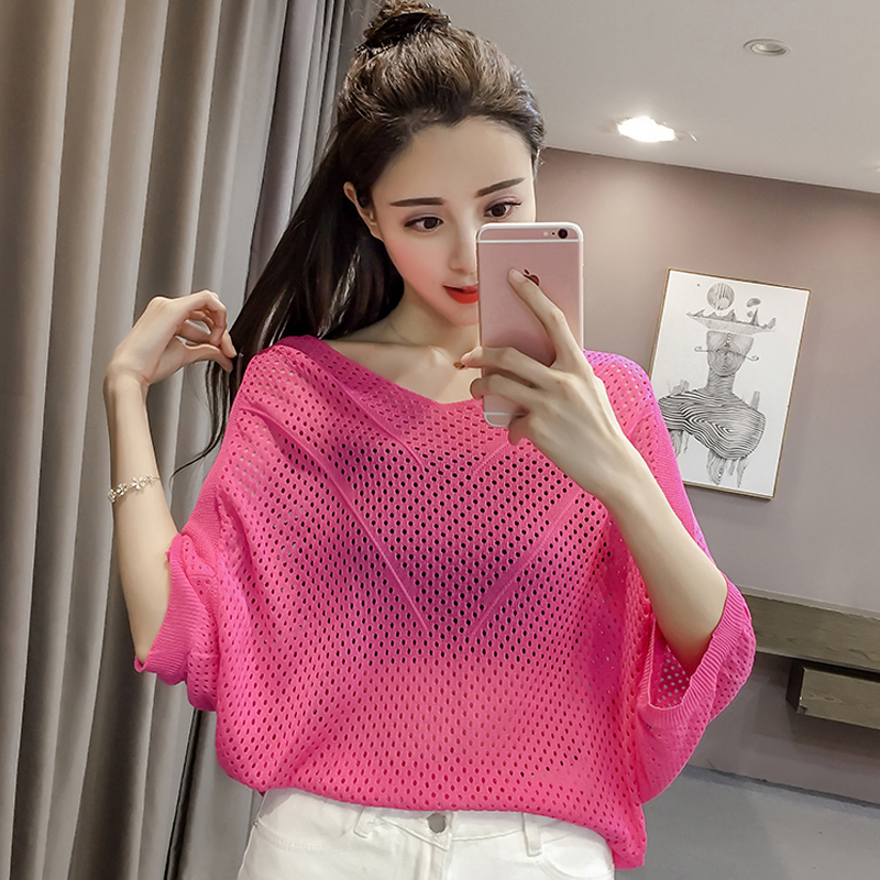 6 Color Women Fashion Knit Pullover Tops Long Sleeve Cotton Fabric Casual Shirts Loose Shirts Solid Color Knit Top