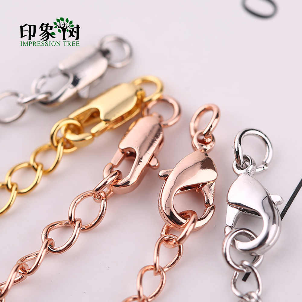 1Pc 70mm Length Extended Chain With Lobster Clasps Heart Dropped Necklace Bracelet Extension Bulk DIY Jewelry Making 27082