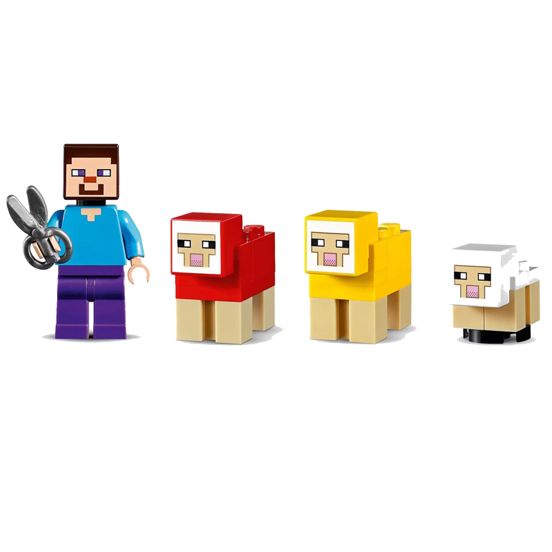 2019 My World Assembled Bricks The Wool Farm Compatible Legoing Minecing 21153 Building Blocks Toys for Children Christmas Gift 4