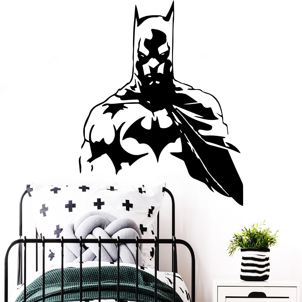 Us 2 76 21 Off New Design Batman Vinyl Wall Sticker For Kids Room Decoration Boys Bedroom Decor Wall Decals Stickers On The Wall Decal Murals In