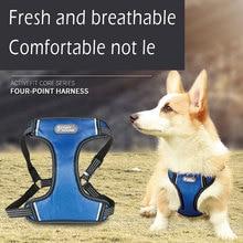 1PCS Nylon Vest Pet Anti-Rush Chest Back Comfortable Breathable Reflective Strap  Hyena Rope for Medium Large Dogs