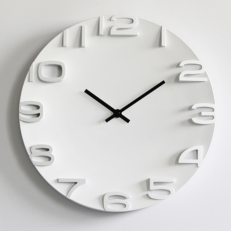 3d Wall Clock Simple Modern Design Nordic Brief Large Digital Watch For Bedroom Home Decor Silent 14 Inch Wall Clocks