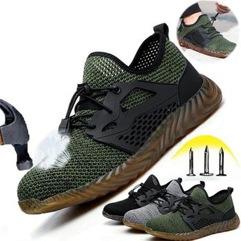 Air Mesh Safety Boots Puncture-Proof Work Sneakers Breathable Shoes 1