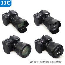 JJC Lens Hood Cho Canon EF S 18 135Mm F/3.5 5.6 Is USM, RF 24 104Mm F4 L USM Trên Kính Canon EOS R6 80D 77D 60D Thay Thế Cho EW 73D