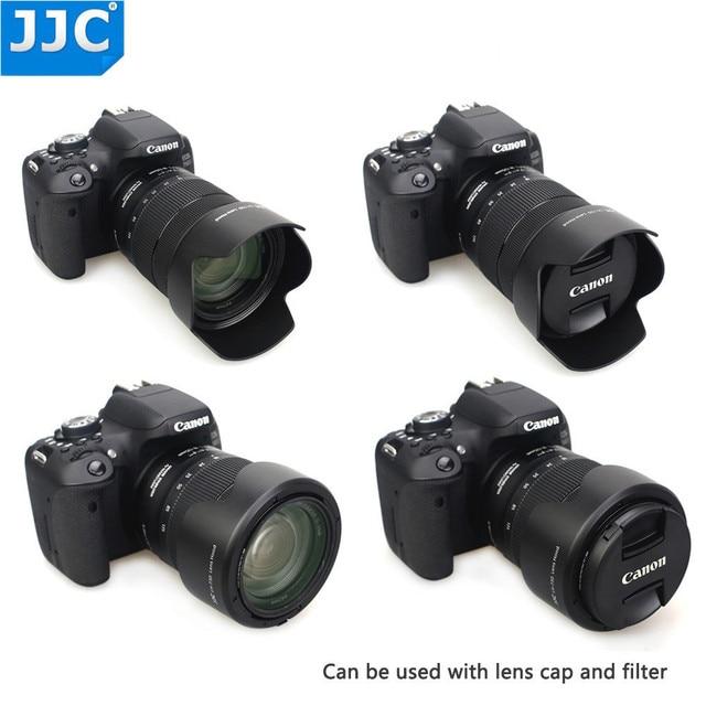 JJC Lens Hood for Canon EF S 18 135mm f/3.5 5.6 is USM, RF 24 104mm F4 L IS USM Lens on Canon EOS R6 80D 77D 60D Replaces EW 73D
