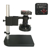 130X Zoom Lens 1080P 2K 3800W 38MP Electronic HDMI USB Digital Video Microscope Camera +130X C Mount lens+ 56 Led ring lights
