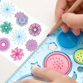 1 PC 20 CM Cute DIY Spirograph Ruler Kawaii Circle Puzzle Template Rulers for Kids Children Drawing Gift Creative Stationery Toy - discount item  20% OFF Drafting Supplies