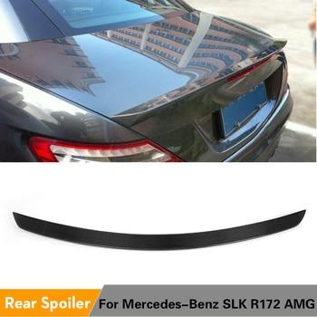 Carbon Fiber Rear Spoiler Trunk Boot Wing for Mercedes-Benz R172 SLK Class 200 250 300 350 SLK55 AMG Convertible 2012 2013