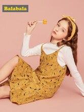 Balabala dzieci noszą sukienka dziewczyny moda sukienka 2019 nowa jesienna kwiatowy księżniczka bawełna strój