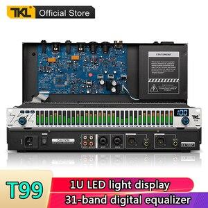 Tkl t99 profissional 31 faixas equalizador processador de som áudio estágio áudio digital gráfico equalizador sistema