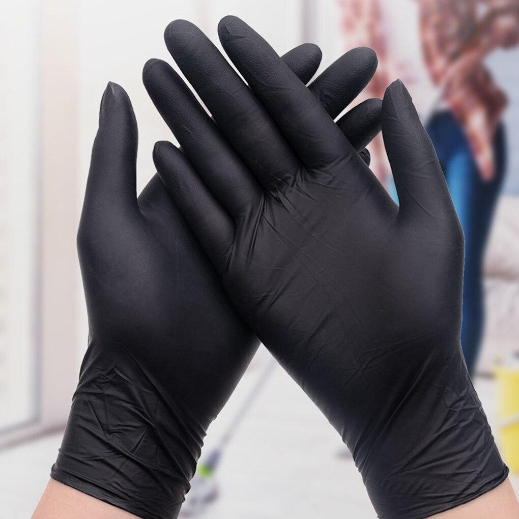 20pcs Black Disposable Gloves Powder Free Latex Free Mechanic Tattoo Beauty Care Body Art Gloves Household