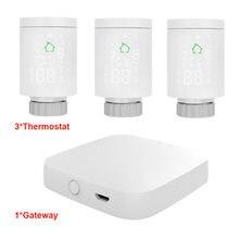 Tuya ZIGBEE3.0-Actuador de radiador inteligente, válvula termostática programable, controlador de temperatura, Control por voz a través de Alexa