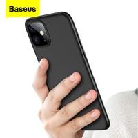 Baseus الفاخرة قضية الهاتف آيفون 11 برو ماكس Xs ماكس Xr X 11Pro الغطاء الخلفي 0.4 مللي متر رقيقة جدا سلم PP كوكه Fundas ل iPhone11