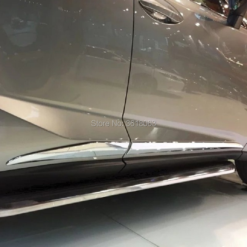 For <font><b>Lexus</b></font> NX NX200 <font><b>NX200T</b></font> NX300H <font><b>2015</b></font> 2016 2017 ABS Chrome Car Door Body Molding Bottom Cover Trims Protector Exterior <font><b>Accessory</b></font> image