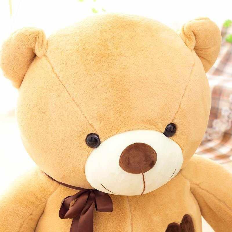 80CM tot 180CM giant opgevulde Liefde lint teddybeer berenvel jas zachte halffabrikaten pluche speelgoed Kerst valentijnsdag gift