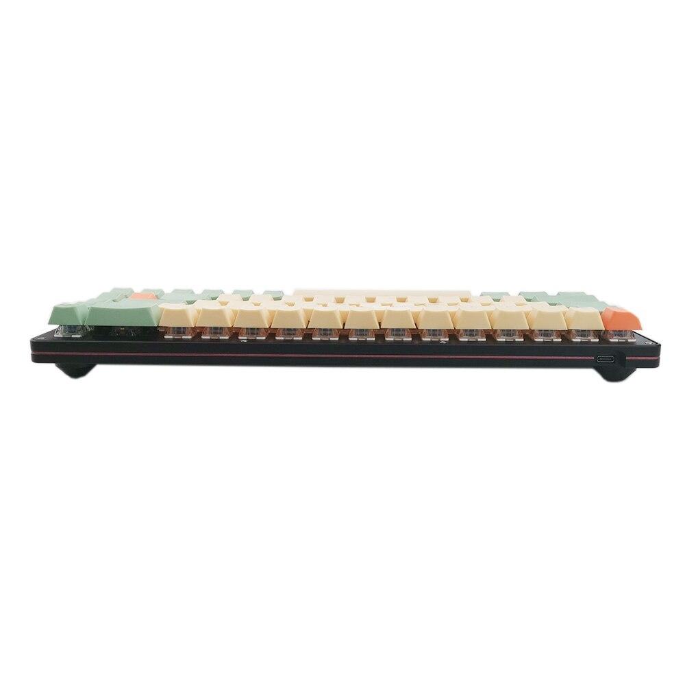 68 שני צבעים Idobao האנודה Shell מכנה ערכת מקלדת 68 מפתח ANSI פריסת PCB לתכנות Hot Plug PBT keycaps עבור משחק משרד (3)
