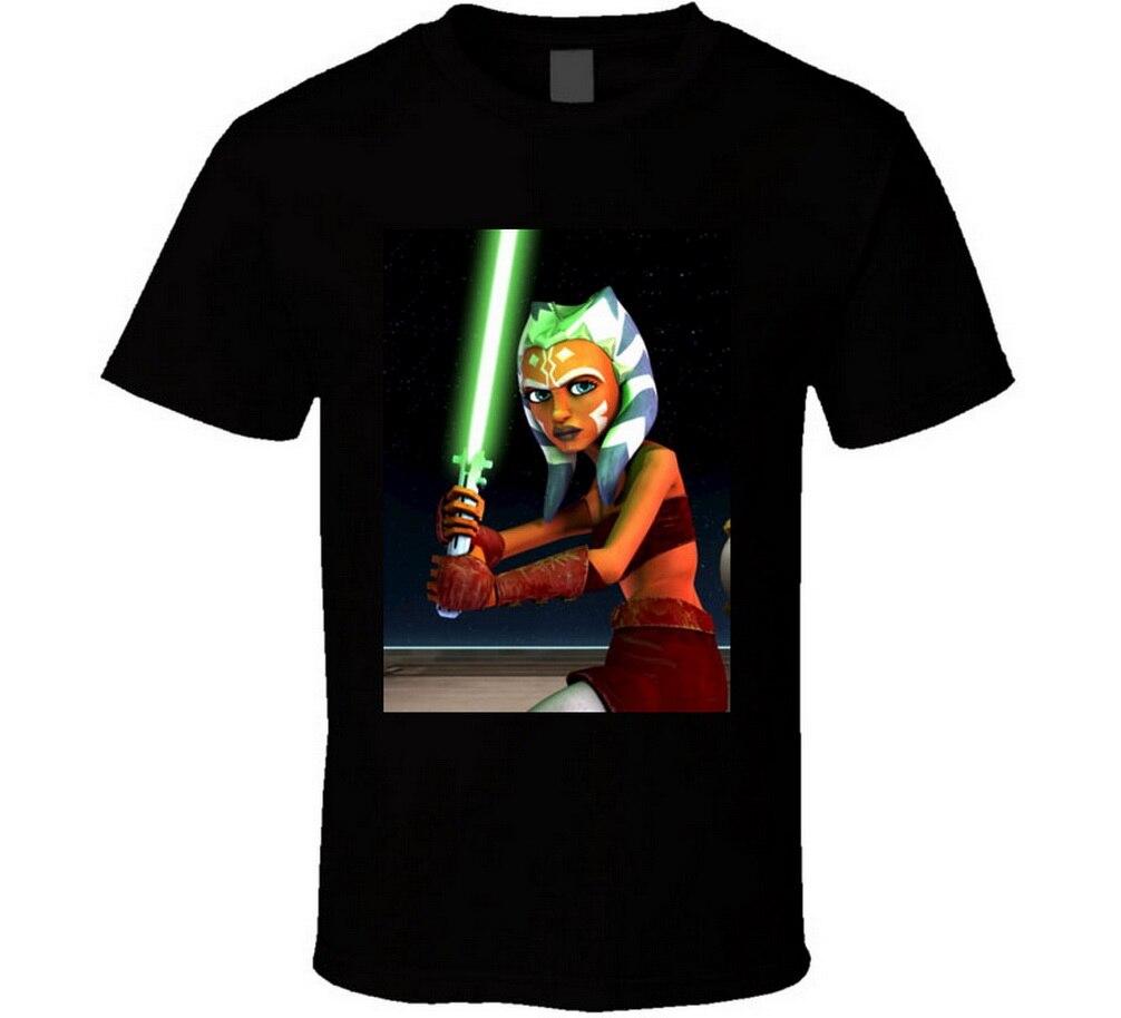 New Ahsoka Tano Star Wars The Clone Wars Men's Tops Tee T Shirt Size S-2XL T-Shirt Custom Printed