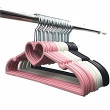 Multifunctional heart-shaped plastic drying rack adult children non-slip hanger wardrobe finishing storage 10 piece 40CM