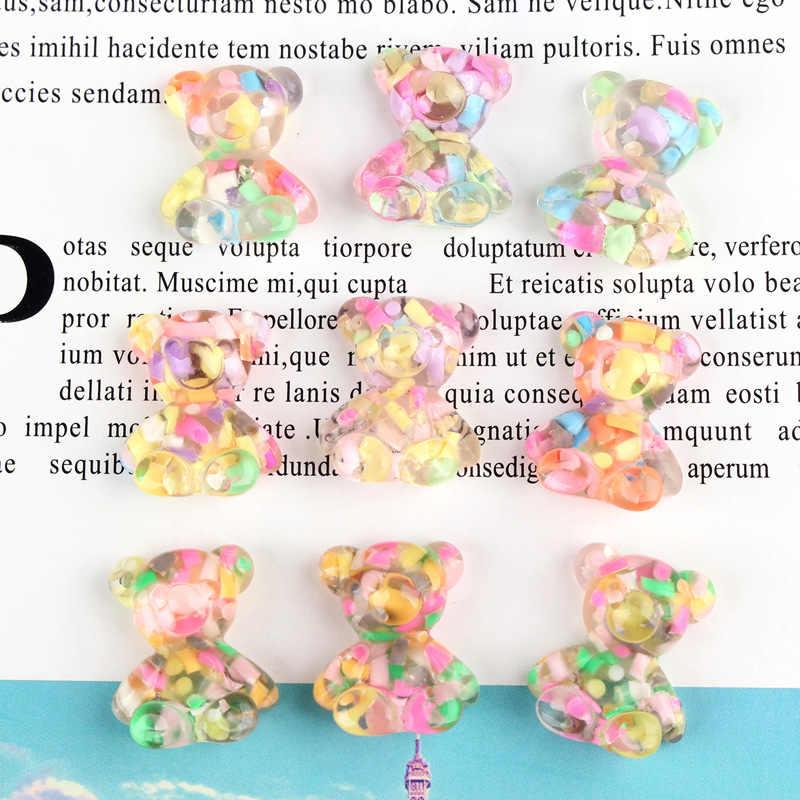 10Pcs Mini Bear Resin Embellishments Crafts Decoration Flatback DIY Accessories