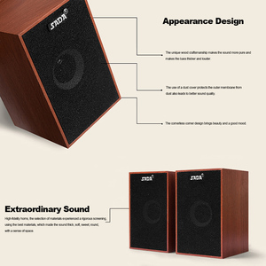 Image 3 - SADA AUX 3.5mm USB Wired Speakers Super Bass Wooden PC Speakers Mini Sound Box for Laptop Desktop Phone MP3 Music Player