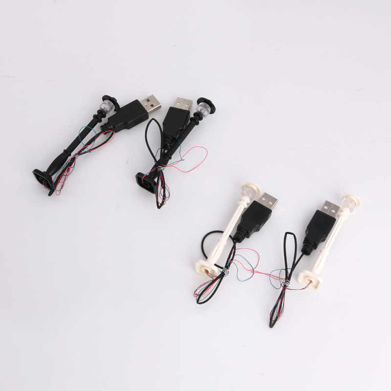 1pcs City อุปกรณ์เสริม Street ไฟ Shine LED USB อาคารบล็อก DIY สวนของเล่นเข้ากันได้กับ legoings