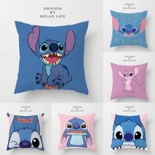 Pillowcase Cushion-Cover Princess Disney Cartoon Sofa Stitch Lilo Gift Decorative/nap-Room