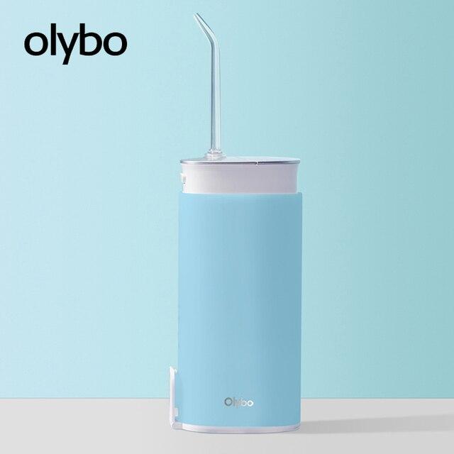 Olybo Di Động Miệng Irrigator USB Sạc Nước Dental Flosser Irrigator Để Vệ Sinh Răng Nước Đựng Tăm