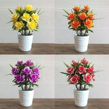 1Pc Potted Artificial Flower Stage Garden Wedding Home Party Decoration Props  Vivid Color Decor Beautiful Non-fading