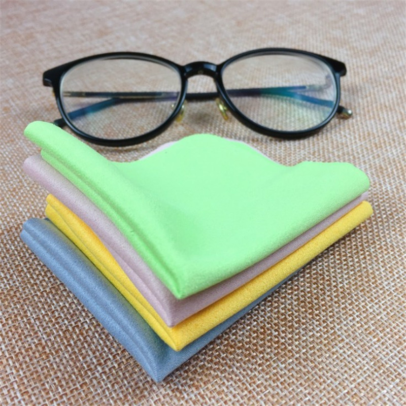 5Pcs Soft Chamois Glasses Cleaner Eyeglasses Microfiber Clean Cloth for Lens Phone Screen Cleaning Wipes Tools 4