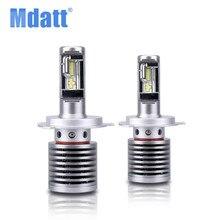 Mdatt Car Led Headlight Bulbs H1 H4 H7 H11 9005 9006 HB4 Bulb 72W 14600LM Canbus 12V LED Headlamp Light Automobiles
