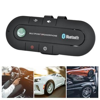 Wireless Bluetooth Car Kit Handsfree Speaker MP3 Music Player Sun Visor Clip Multipoint Noise Cancelling for iPhone Android image