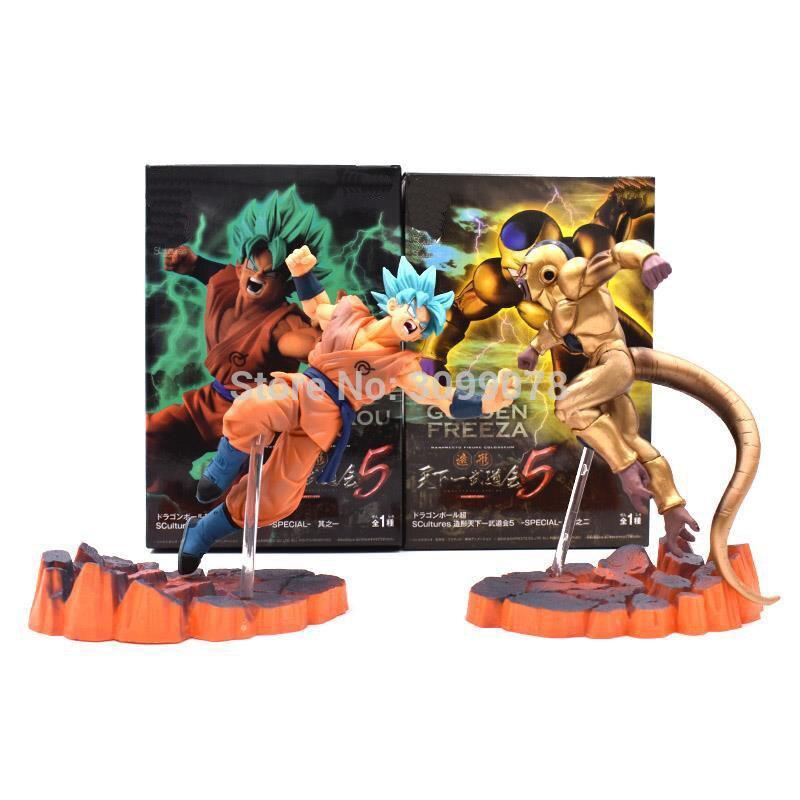2 estilos 14cm dragon ball z super saiyan son goku freeza juguetes pvc figura de ação collectible brinquedos modelo boneca crianças