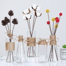 Transparent Glass Vases-Supplies-Accessories Flower-Vase Hydroponics-Plants-Vases Nordic-Ornaments