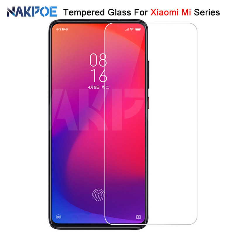 9H Protective <font><b>Glass</b></font> For <font><b>Xiaomi</b></font> <font><b>Mi</b></font> 8 <font><b>9</b></font> 9T Pro SE CC9 CC9E A3 A2 Lite Play Pocophone F1 Tempered <font><b>Screen</b></font> <font><b>Protector</b></font> <font><b>Glass</b></font> Film Case image