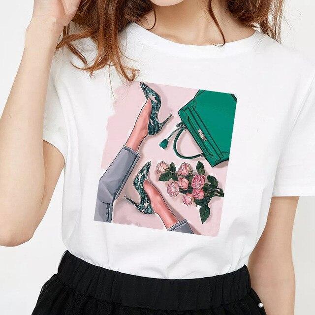 Женская модная Эстетическая футболка s Vogue женские летние футболки 90s готические корейские Топы