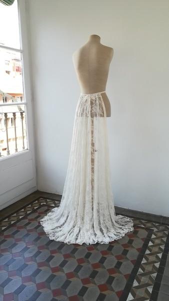 Wedding Dress Train, Detachable Train For Wedding Dress, Lace Train For Bridal Gown, Bridal Overskirt Lace, Detachable Skirt,